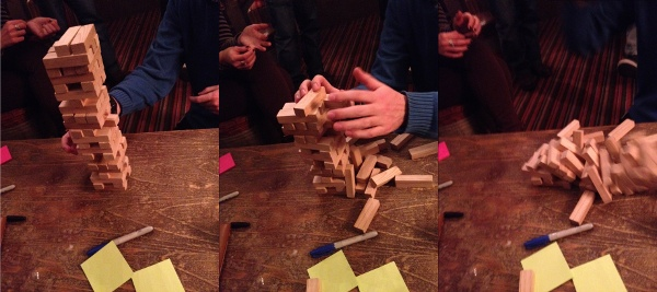 Jenga in the pub