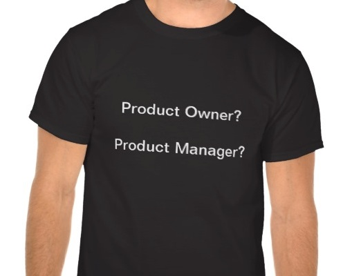 T-shirt with Product Owner / Product Manager written on it