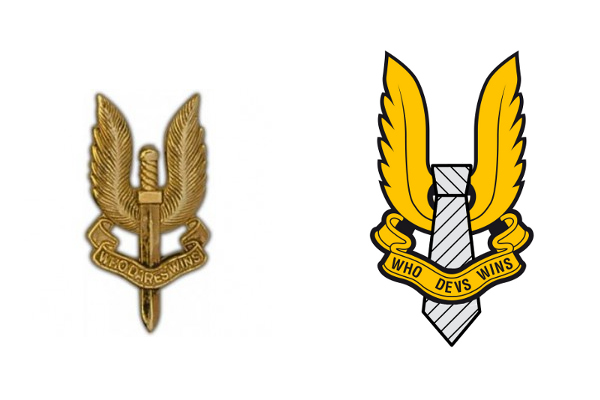 SAS logo - original and our adapted version